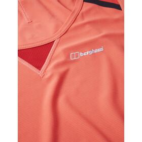 Berghaus Super Tech Camiseta sin Mangas Mujer, hot coral/volcano